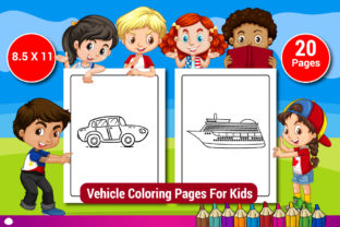 Vehicle Coloring Pages for Kids Graphic Coloring Pages & Books Kids By Sharif54