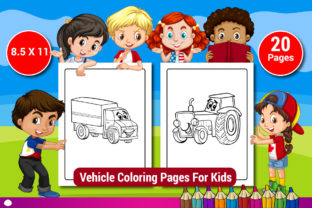 Vehicle Coloring Pages for Kids Vol-2 Graphic Coloring Pages & Books Kids By Sharif54