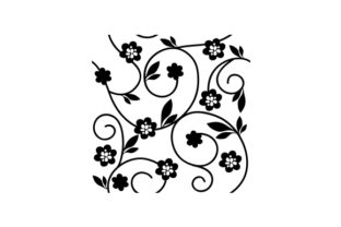 Flower Vine Designs & Drawings Craft Cut File By Creative Fabrica Crafts