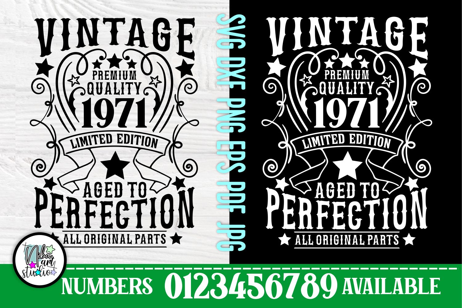 50th Birthday Svg, Aged to Perfection SVG File