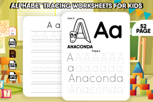 Print on Demand: Alphabet Letter Tracing Worksheets - KDP Graphic KDP Interiors By Kristy Coloring