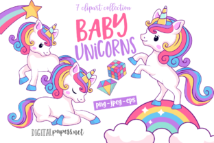 Print on Demand: Baby Magical Unicorns Graphic Illustrations By DigitalPapers