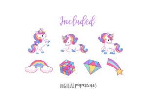 Print on Demand: Baby Magical Unicorns Graphic Illustrations By DigitalPapers 2