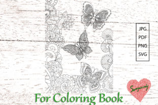 Butterflies for Adult Coloring Book. Graphic Coloring Pages & Books Adults By somjaicindy