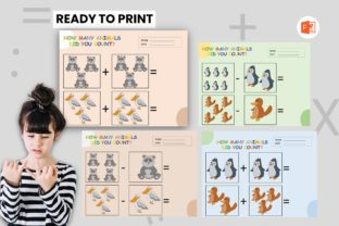 Counting Animal Book - Pinguin Fiends Graphic Teaching Materials By 57creative