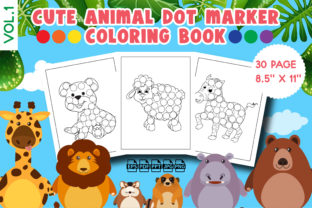 Cute Animal Dot Marker Coloring Book Graphic KDP Interiors By Vibgyor