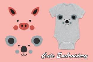 Cute Pigs and Cute Koalas Baby Animals Embroidery Design By NIQ