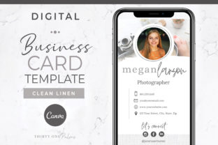 Digital Business Card Template Graphic Graphic Templates By Thirty One Palms Studio