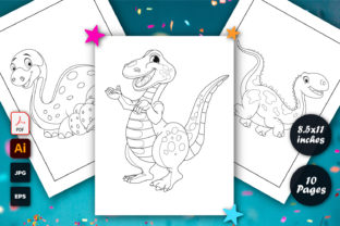 Dinosaur Coloring Page KDP for Kids Graphic Coloring Pages & Books Kids By graphs_art