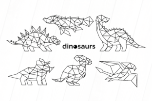 Print on Demand: Dinosaur Graphic Patterns By MSTD