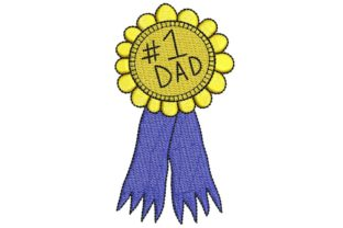 Father's Day: #1 Dad Father's Day Embroidery Design By BabyNucci Embroidery Designs
