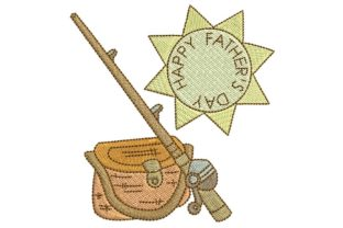 Father's Day: Fishing? Father's Day Embroidery Design By BabyNucci Embroidery Designs