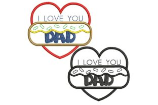 Father's Day: Love Heart Father's Day Embroidery Design By BabyNucci Embroidery Designs