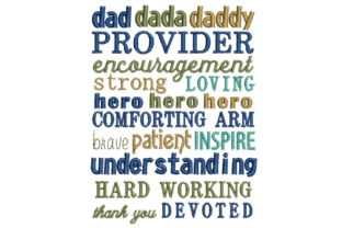 Father's Day: That's Dad Vatertag Stickdesign von BabyNucci Embroidery Designs