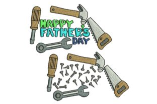 Father's Day: Tools Vatertag Stickdesign von BabyNucci Embroidery Designs