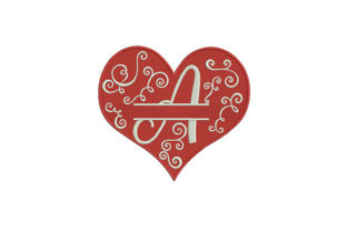 Floral Heart Design Wedding Embroidery Design By DigitEMB