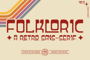 Print on Demand: Folkloric Display Font By inumocca_type 1