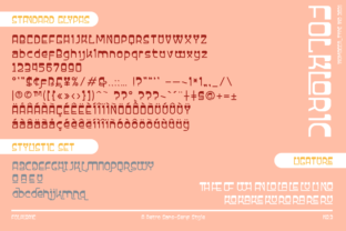 Print on Demand: Folkloric Display Font By inumocca_type 8