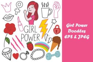 Print on Demand: Girl Power Doodles Art Graphic Illustrations By firdausm601