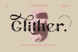 Print on Demand: Glither Serif Font By Alit Design