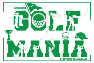Print on Demand: Golf Mania Display Font By KtwoP