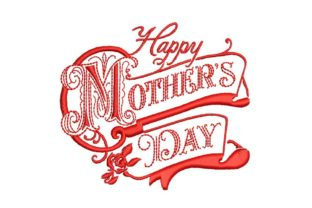 Happy Mothers Day Old Fashion Mother's Day Embroidery Design By BabyNucci Embroidery Designs