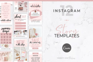 Instagram Stories for Canva   Blush Graphic Graphic Templates By Thirty One Palms Studio