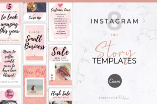 Instagram Stories for Canva | Watercolor Graphic Graphic Templates By Thirty One Palms Studio