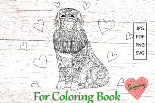 Labrador for Adult Coloring Book Graphic Coloring Pages & Books Adults By somjaicindy