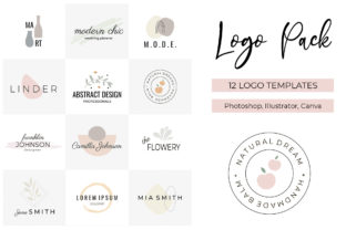 Logo Pack V.1 | 12 Premade Logo Template Graphic Logos By switzershop