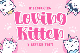 Print on Demand: Loving Kitten Display Font By Blankids Studio