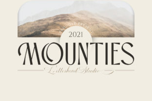 Print on Demand: Mounties Display Font By letterhend