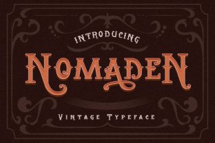 Print on Demand: Nomaden Blackletter Font By Graphue