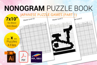 Print on Demand: Nonogram Puzzle Book Mastery Level Part1 Graphic KDP Interiors By PEN_TOOLS