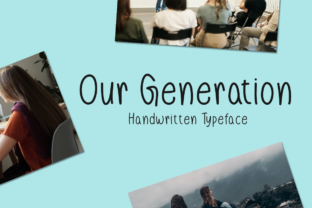 Print on Demand: Our Generation Script & Handwritten Font By Seemly Fonts