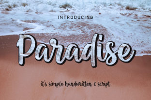 Print on Demand: Paradise Script & Handwritten Font By darully.creator