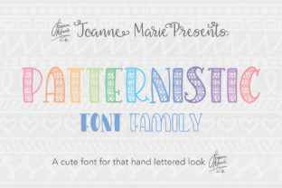 Print on Demand: Patternistic Decorative Font By joanne.hewitt