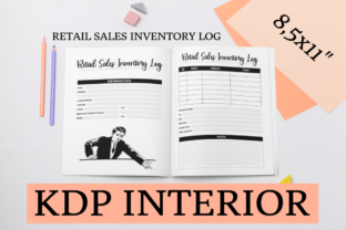 Print on Demand: Retail Sales Inventory Log KDP Interior Graphic KDP Interiors By KDP Mastermind