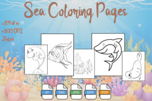 Sea Coloring Pages VOL 6 | KDP Graphic Coloring Pages & Books Kids By Kdp Speed