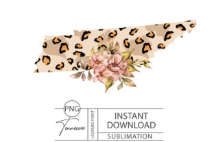 Print on Demand: Tennessee Leopard Sublimation- PNG Files Graphic Illustrations By Tiana Geo