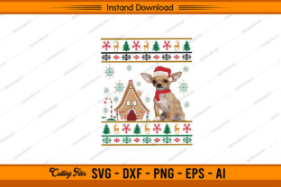 Ugly Christmas Cute Dog Graphic Print Templates By sketchbundle