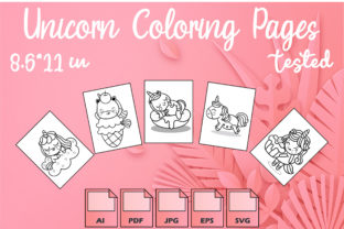 Unicorn Coloring Pages VOL 10 | KDP Graphic Coloring Pages & Books Kids By Kdp Speed