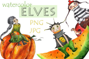 Watercolor Illustration Cute Elves Graphic Illustrations By WatercolorСreatures