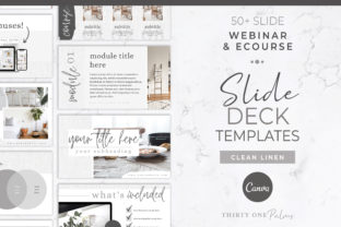 Webinar & Course Slide Deck Template Graphic Graphic Templates By Thirty One Palms Studio