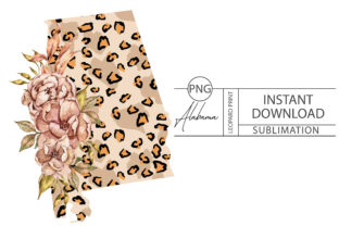 Print on Demand: Alabama Leopard Sublimation-png File Graphic Crafts By Tiana Geo