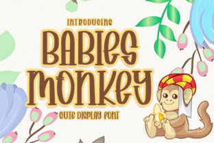 Print on Demand: Babies Monkey Script & Handwritten Font By FreshTypeINK