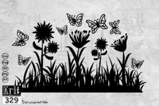 Butterfly Floral Grass SVG Graphic Crafts By Krit-Studio329
