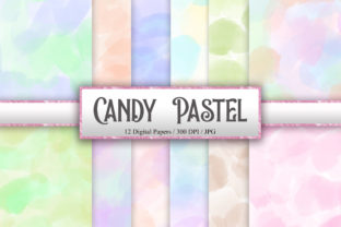 Print on Demand: Candy Pastel Background Digital Papers Graphic Backgrounds By PinkPearly