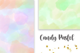 Print on Demand: Candy Pastel Background Digital Papers Graphic Backgrounds By PinkPearly 2