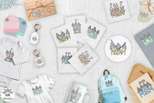 Print on Demand: Castle Clipart. Baby Shower Clipart Graphic Illustrations By OK-Design 2